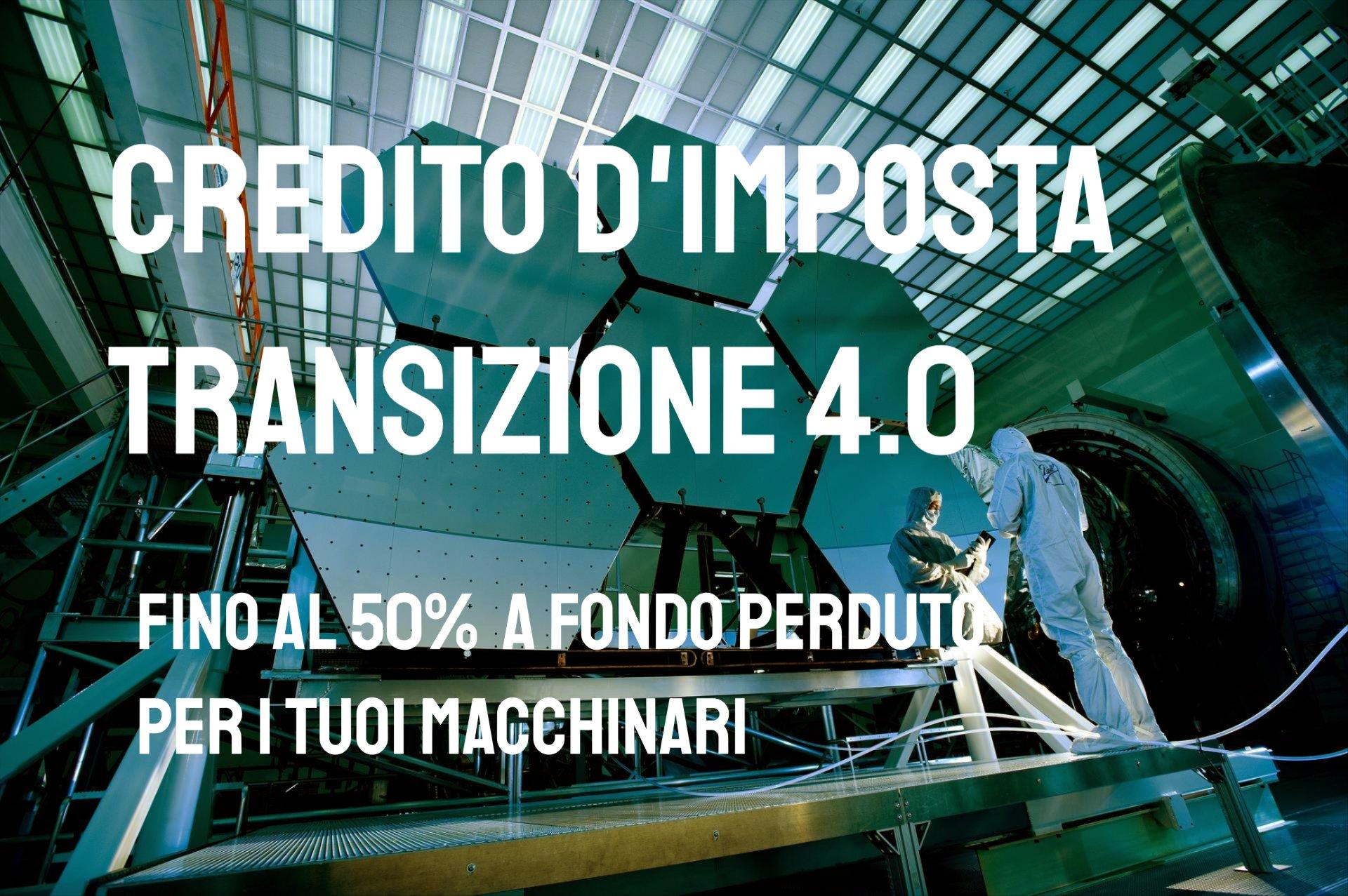 Transizione 4.0 credito d'imposta